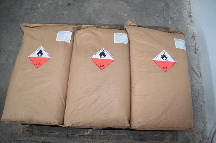 Ejemplo de sacos de Carbón